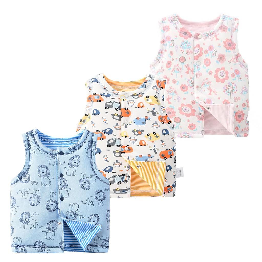 寶寶夾棉背心 女童 男童 嬰兒 嬰幼兒背心 鋪棉背心 夾克 外套 背心 橘魔法 現貨 【p0061196223251】