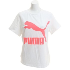 プーマ(PUMA) CLASSICS ロゴ 半袖Tシャツ 595958 02 WHT (Lady's)