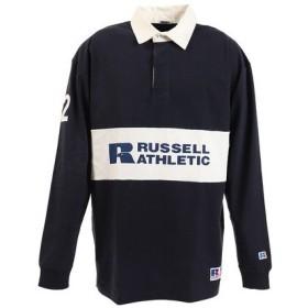 ラッセル(RUSSELL) PR RUGGER 長袖ポロシャツ RBM19F0003 NVY (Men's)