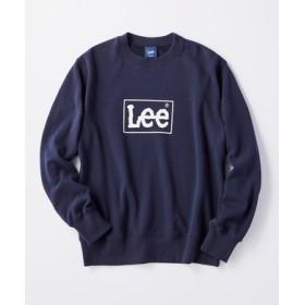 Lee 【メンズ&レディーススウェット2枚目半額】裏シャギーロゴトレーナー メンズ ネイビー