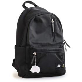 (スカンジナビアン フォレスト) SCANDINAVIAN FOREST デイパック リュックサック カバン 鞄 BAG ワンポイント 高さ39×横幅24×マチ12.5cm BLACK