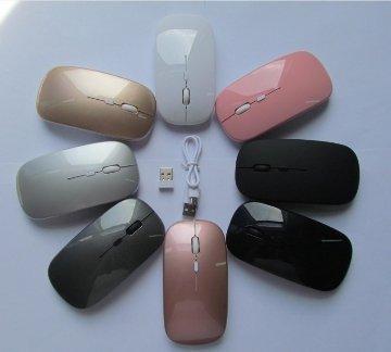 (黑色滑鼠清倉大特賣買5送1)充電無線靜音滑鼠 無線光學滑鼠 充電2.4G無線薄型滑鼠