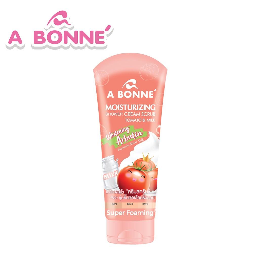 【A BONNE'】番茄&牛奶嫩白身體去角質鹽沐浴精華乳
