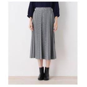 SHOO・LA・RUE(Ladies)(シューラルー(レディース))カットジャガードプリ−ツスカート