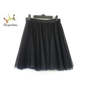 ミュラーオブヨシオクボ スカート レディース 美品 黒×ネイビー スパンコール/チュール 新着 20191006