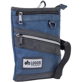 [LOGOS] ロゴス シザーバッグ ショルダーバッグ 2WAY メンズ 男性 カジュアル 軽量 斜めがけ カラビナ ベルト ファスナー ポケット (ネイビー)