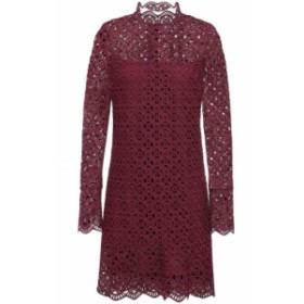 サンドロ SANDRO レディース ワンピース ミニ丈 ワンピース・ドレス scalloped guipure lace mini dress Merlot