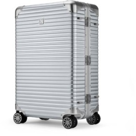 (Bag & Luggage SELECTION/カバンのセレクション)ランツォ スーツケース LANZZO NORMAN 64L Mサイズ ノーマン アルミフレーム アルミボディ/ユニセックス シルバー