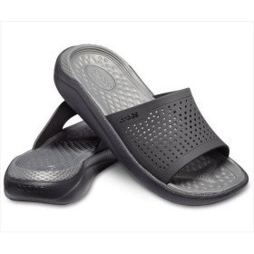 [crocs]クロックス ライトライド スライド (205183)(0DD) ブラック/スレートグレー[取寄商品]