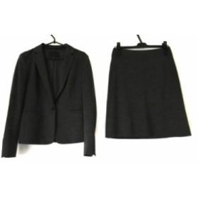 アイシービー ICB スカートスーツ サイズ9 M レディース 美品 ダークグレー【中古】20191005
