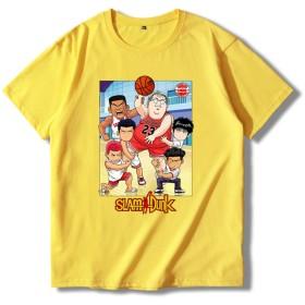 XIANNV スラムダンク さくらぎはなみち るかわ かえで バスケットボール コミック メンズ レディース 夏服 スポーツ 半袖 おしゃれ Tシャツ