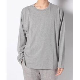 (nano・universe/ナノ・ユニバース):ヘビーオンスサイドポケットTシャツLS/メンズ グレー