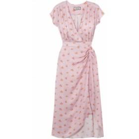 ポールandジョー PAUL and JOE レディース ワンピース ワンピース・ドレス marinette gathered floral-print satin-jacquard dress Baby