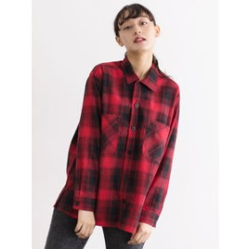 【SALE開催中】【E hyphen world gallery:トップス】・UNIVERSAL OVERALL OMBRE SHIRT