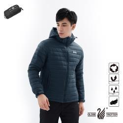 【遊遍天下】男款防潑水防風保暖可拆帽90%羽絨外套GJ22011黑藍