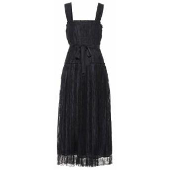 ボッテガ ヴェネタ Bottega Veneta レディース ワンピース ワンピース・ドレス Lace-trimmed silk-blend dress Nero/Nero