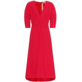 ヌメロ ヴェントゥーノ N21 レディース ワンピース ミドル丈 ワンピース・ドレス Gathered midi dress Red