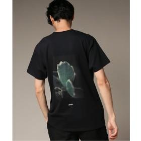 【エディフィス/EDIFICE】 CHIBIFLOWER BACK PRINT ショートスリーブ Tシャツ