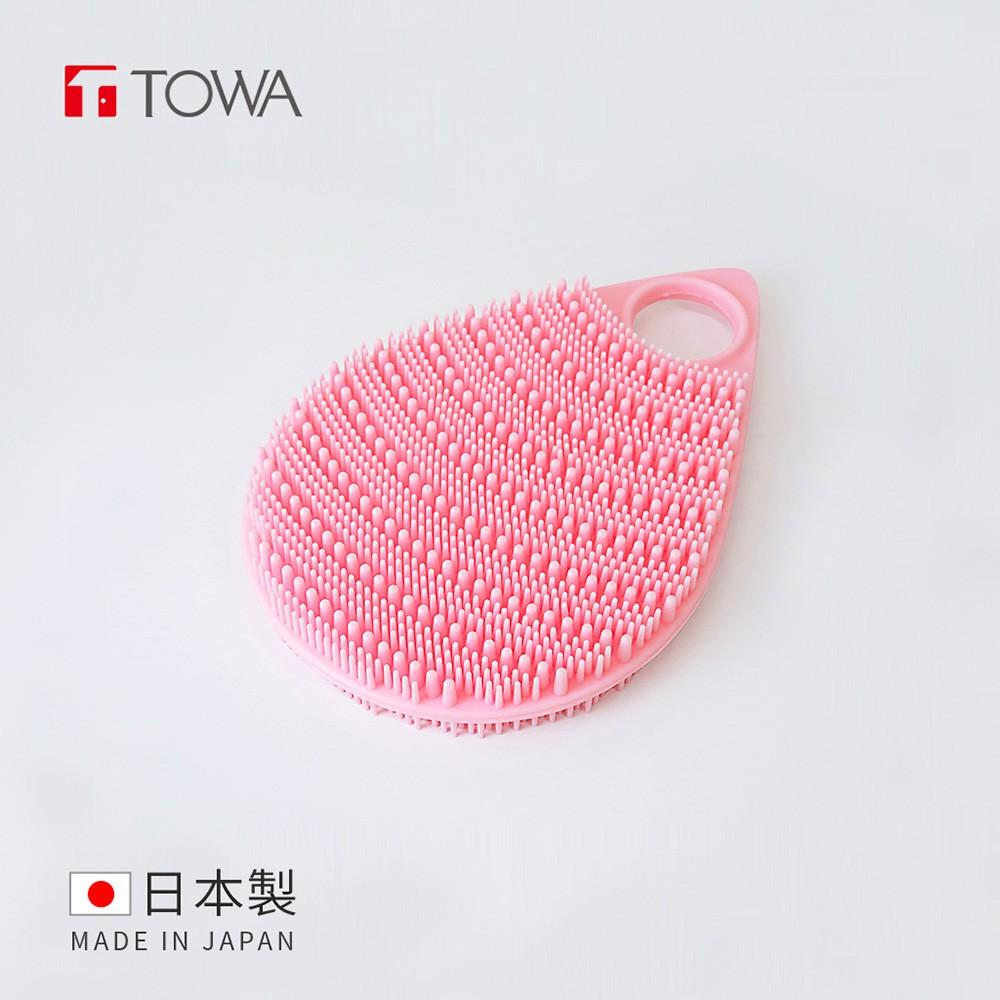 【日本東和TOWA】易起泡軟質矽膠雙面按摩沐浴刷