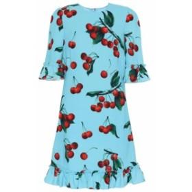 ドルチェandガッバーナ Dolce and Gabbana レディース ワンピース ワンピース・ドレス cherry printed minidress Ciliegie Fondo Azzurro