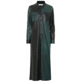 スタンドスタジオ Stand Studio レディース ワンピース ミドル丈 ワンピース・ドレス Alte leather midi dress Black Green