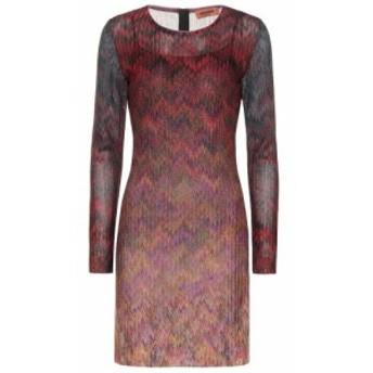 ミッソーニ Missoni レディース ワンピース ワンピース・ドレス Striped knit minidress