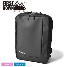 (店内全品クリアランス) FIRST DOWN ファーストダウン バックパック スムース合皮スクエアリュック 33004 鞄 かばん アウトドア 通勤 通学