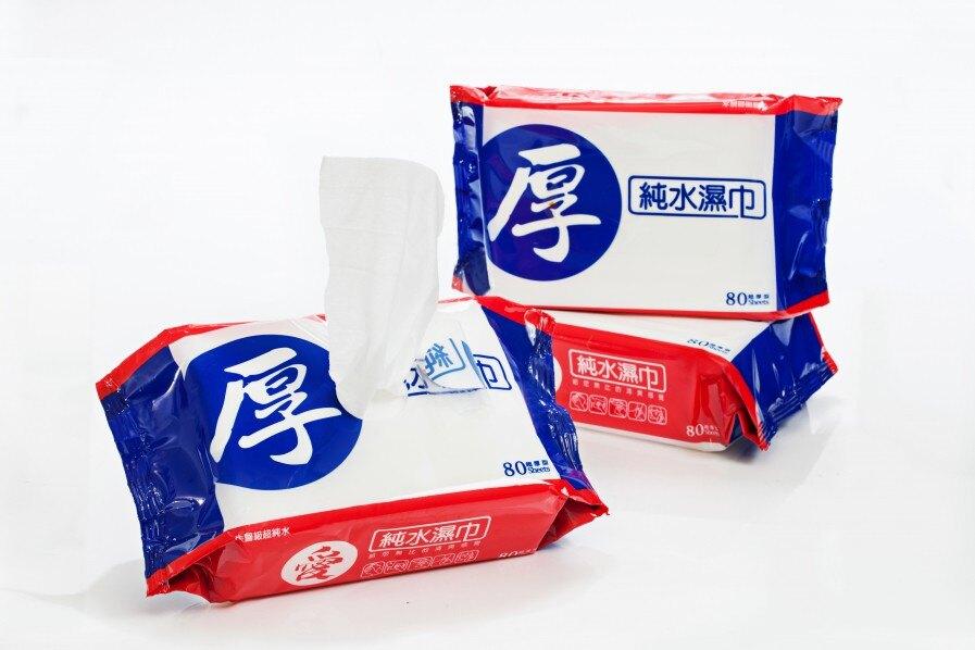 台農 愛 (厚) 純水濕巾80抽12包/箱