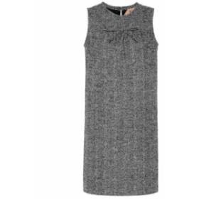 ヌメロ ヴェントゥーノ N21 レディース ワンピース ワンピース・ドレス Herringbone wool-blend minidress fantasia base nera