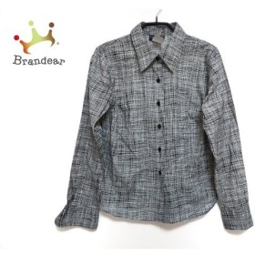 アニエスベー agnes b 長袖シャツブラウス サイズ42 L レディース - - 黒×白 新着 20191009