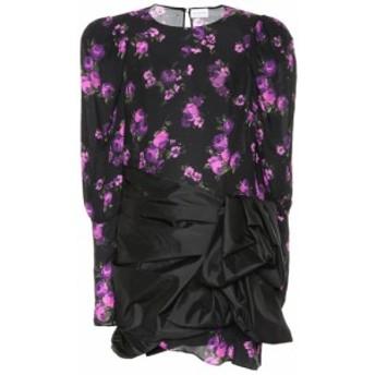 マグダ ブトリム Magda Butrym レディース ワンピース ワンピース・ドレス Matera floral silk minidress Black