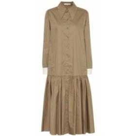 ティビ Tibi レディース ワンピース シャツワンピース ワンピース・ドレス Tech cotton-poplin shirt dress Oatmeal Ivory Multi