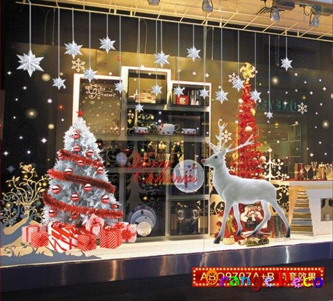 耶誕節 DIY組合壁貼 牆貼 壁紙 無痕壁貼 室內設計 裝潢 裝飾佈置【橘果設計】