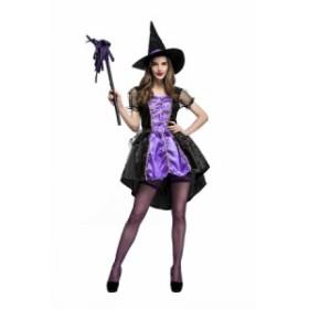 魔女 ハロウィン衣装 大人 レディース コスプレ 魔女 悪魔 変装 仮装 COSPLAY 女性 魔法使い ハロウィン イベント パーティー cos07