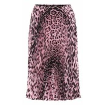 ロベルト カヴァリ Roberto Cavalli レディース ひざ丈スカート スカート Pleated leopard-print skirt Cherry Blossom/Black