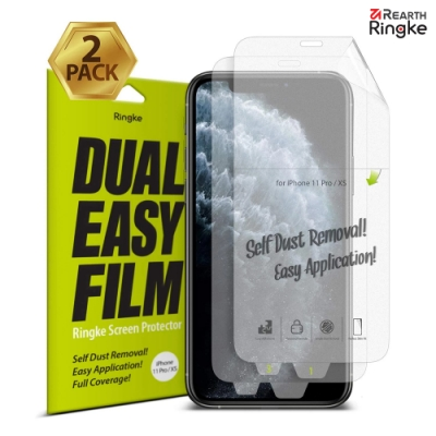 【Ringke】iPhone 11 Pro/XS [Dual Easy]螢幕保護貼(2入)