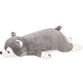 りぶはあと 抱き枕 プレミアムねむねむアニマルズ ハスキー犬のミント Lサイズ W67xD28xH18cm 48768-72