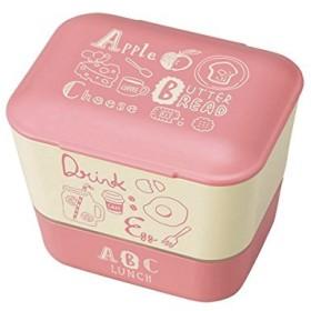 クラフトレシピ ABC サラダ & デザート 2段 PK 400ml 電子レンジ対応 食洗機対応 弁当箱 女性 男子 おしゃれ かわいい スクエア 子供用 女の子 二段 弁当 ランチボックス ランチBOX 収納