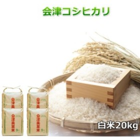 米 お米5kg×4袋 白米 1年産新米 会津米 純精米 コシヒカリ 特A一等米使用  中部地方までの本州地域送料無料