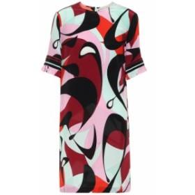 エミリオ プッチ Emilio Pucci レディース ワンピース ワンピース・ドレス Printed silk minidress Nero/Bordeaux