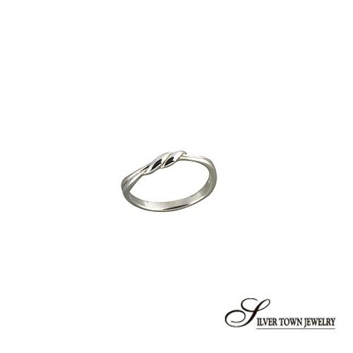 SilverTown銀鎮 經典幸運結純銀戒指(925純銀飾品)