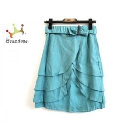 アプワイザーリッシェ スカート サイズ2 M レディース 美品 グリーン リボン/フリル 新着 20191008