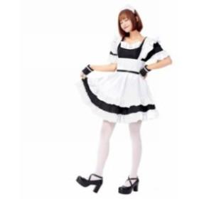 コスチューム メイド ハロウィン 衣裝 コスプレ 仮裝 コスプレ衣裝 メイド服 制服 エプロン ゴスロリ  cos012