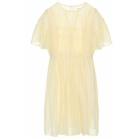 イザベル マラン Isabel Marant. Etoile レディース ワンピース ワンピース・ドレス Annaelle cotton lace minidress Light Yellow