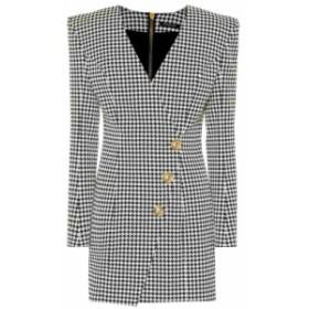 バルマン Balmain レディース ワンピース ワンピース・ドレス Houndstooth minidress Noir/Blanc