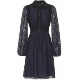 ヌメロ ヴェントゥーノ N21 レディース ワンピース ワンピース・ドレス Embellished lace minidress Navy