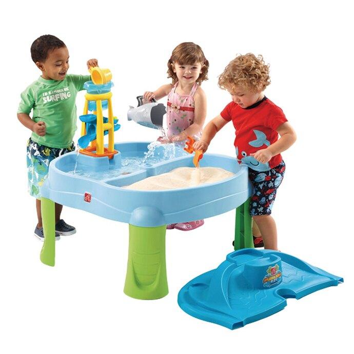 【華森葳兒童教玩具】戶外遊戲器材-Step2 二合一旋轉沙水台 A4-726700