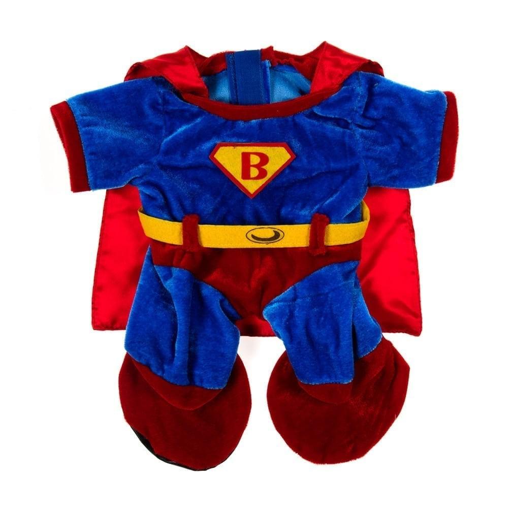 """【限時下殺】16""""娃娃套裝《超人》披風可拆卸《呼呼熊手作工坊》歐盟安全玩具認證 美國設計 可愛精緻 安撫 生日 送禮"""