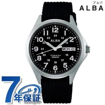 今ならさらに+14倍でポイント最大15倍 セイコー アルバ メンズ 腕時計 カレンダー ナイロンベルト AQPJ404 SEIKO ALBA クオーツ ブラック