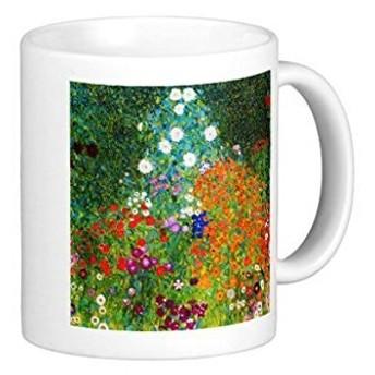 グスタフ・クリムト『 農家の庭 』のマグカップ:フォトマグ(世界の名画シリーズ) (A)